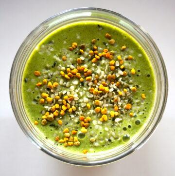 DSC02925 360x361 - Kale Protein Smoothie