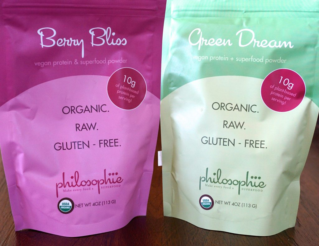 Philosophie Berry Bliss & Green Dream - the best superfood protein powders!