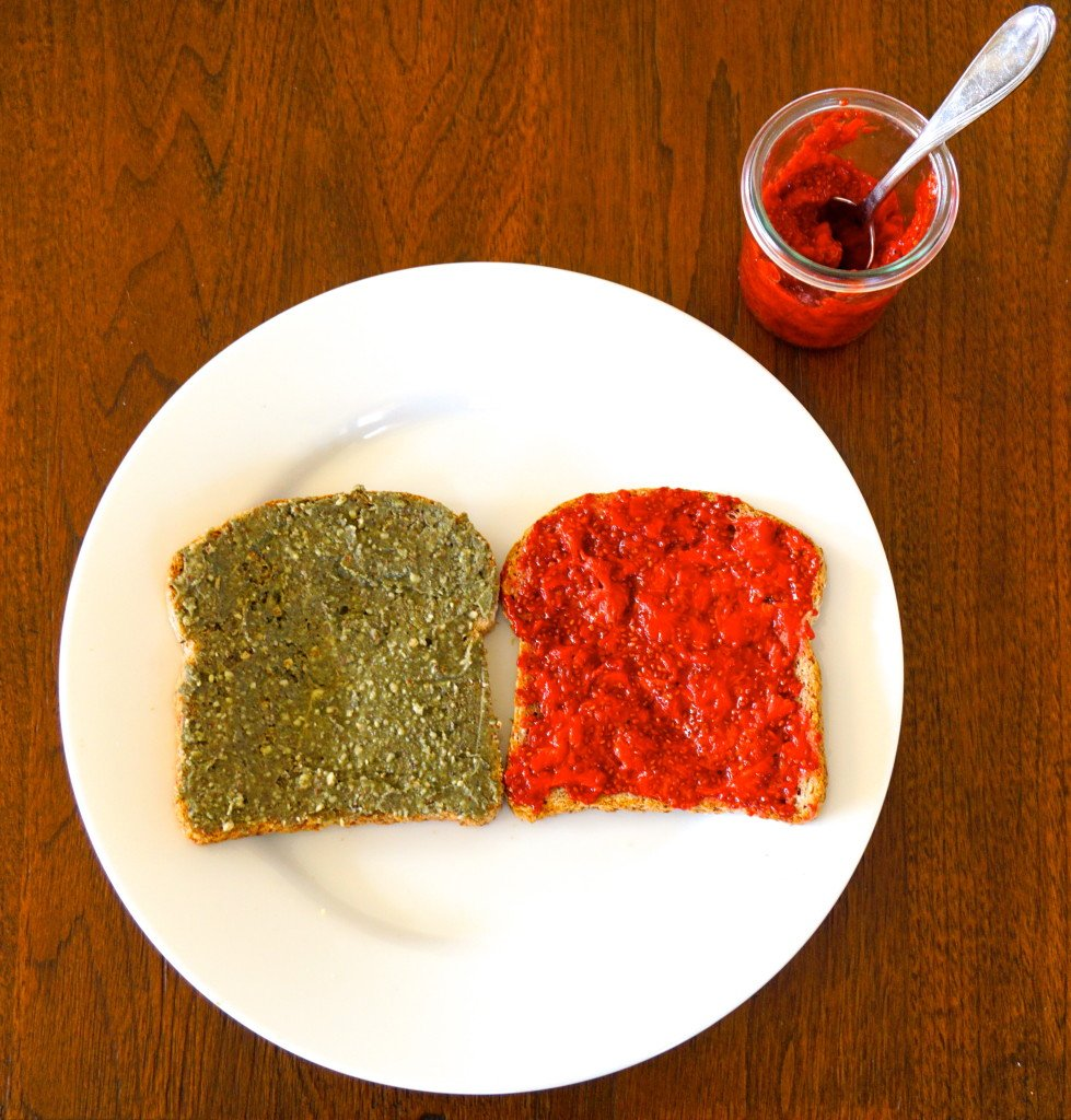 Strawberry Chia Jam & Green Dream Nut Butter / Leah's Plate