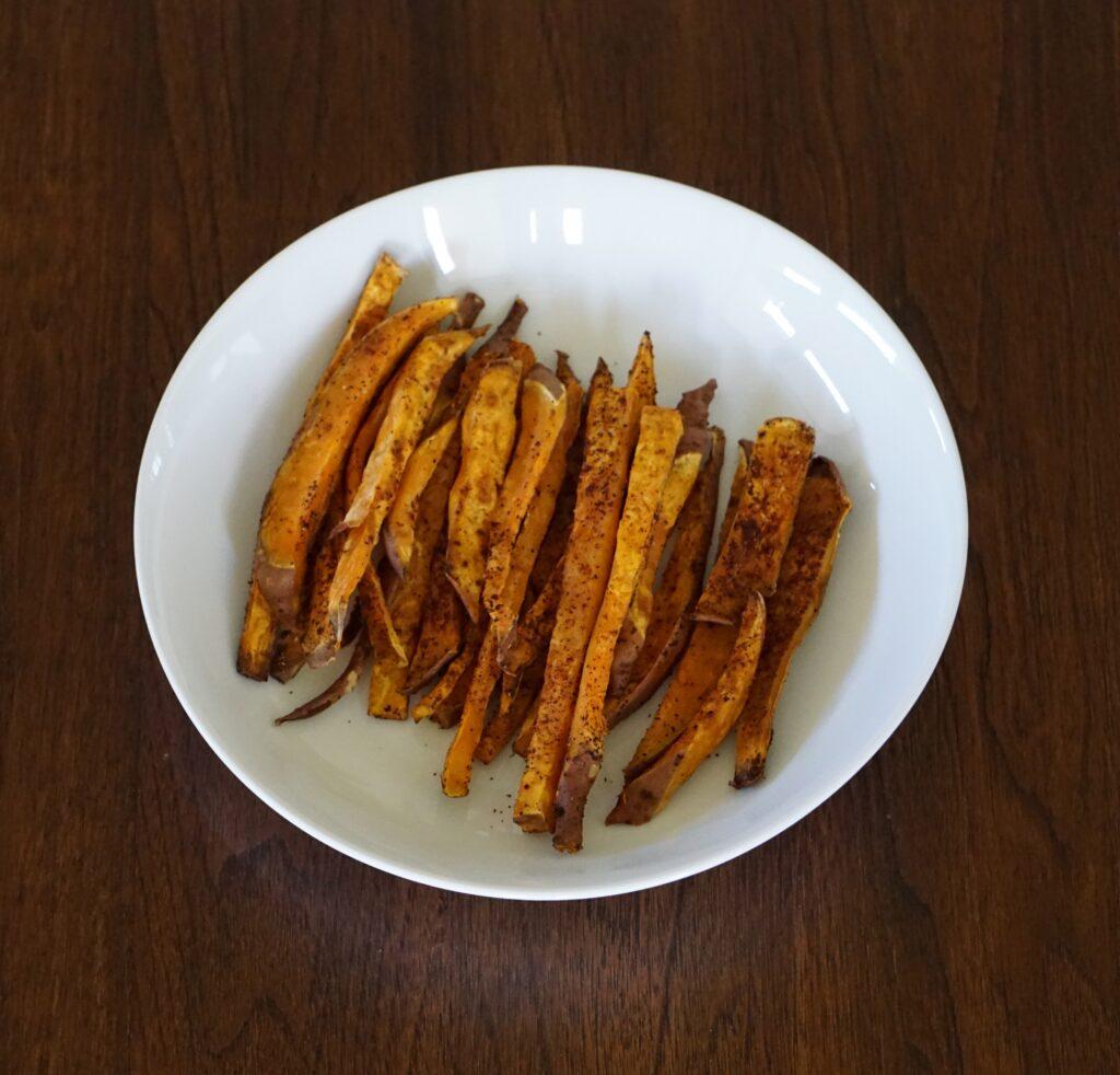 DSC03707 1024x982 - Healthy Baked Sweet Potato Fries