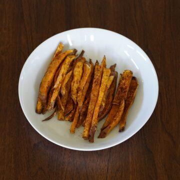 DSC03707 360x361 - Healthy Baked Sweet Potato Fries