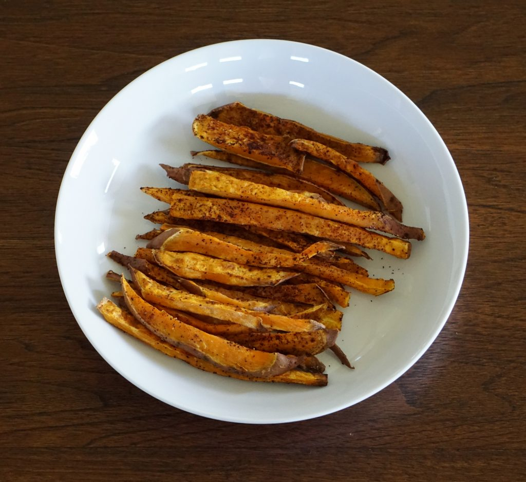 DSC03709 1024x939 - Healthy Baked Sweet Potato Fries