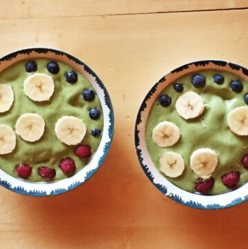 utah smoothie bowl 360x361 - Spinach Cashew & Hemp Smoothie Bowl