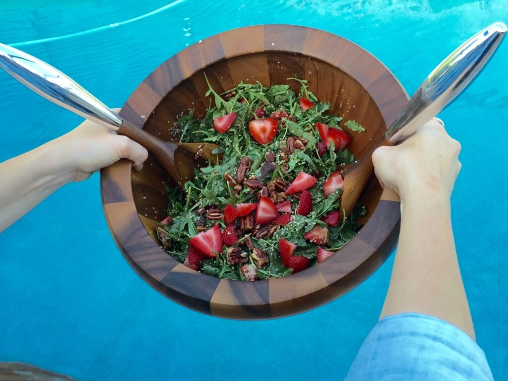 Summer Strawberry & Toasted Pecan Salad