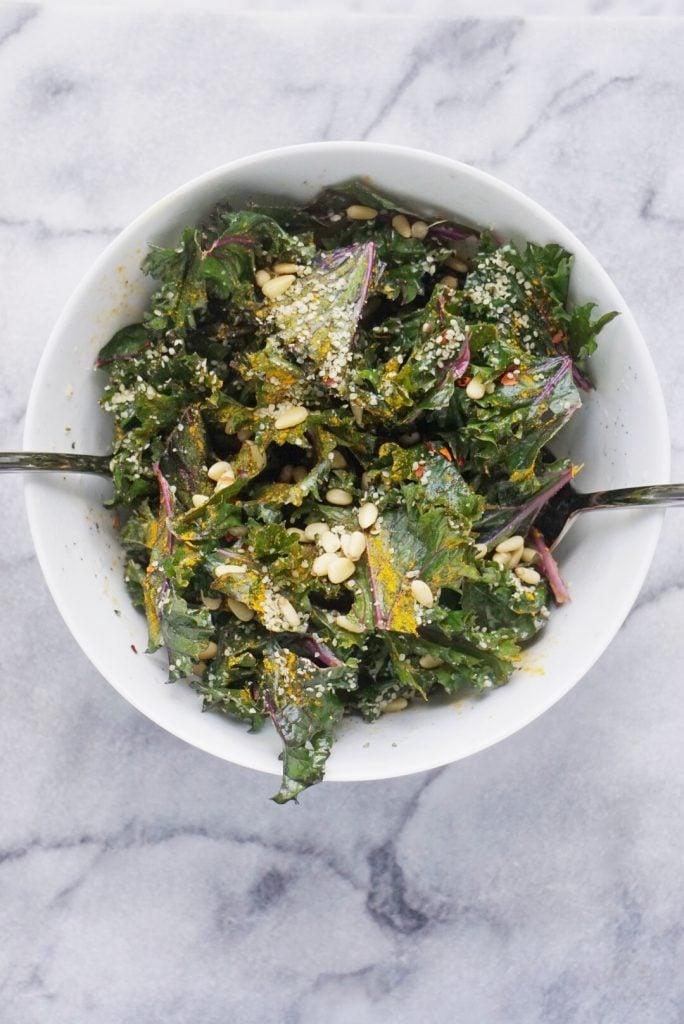 Detoxifying Kale Salad by Leahs Plate 684x1024 - Detoxifying Vegan Kale Salad