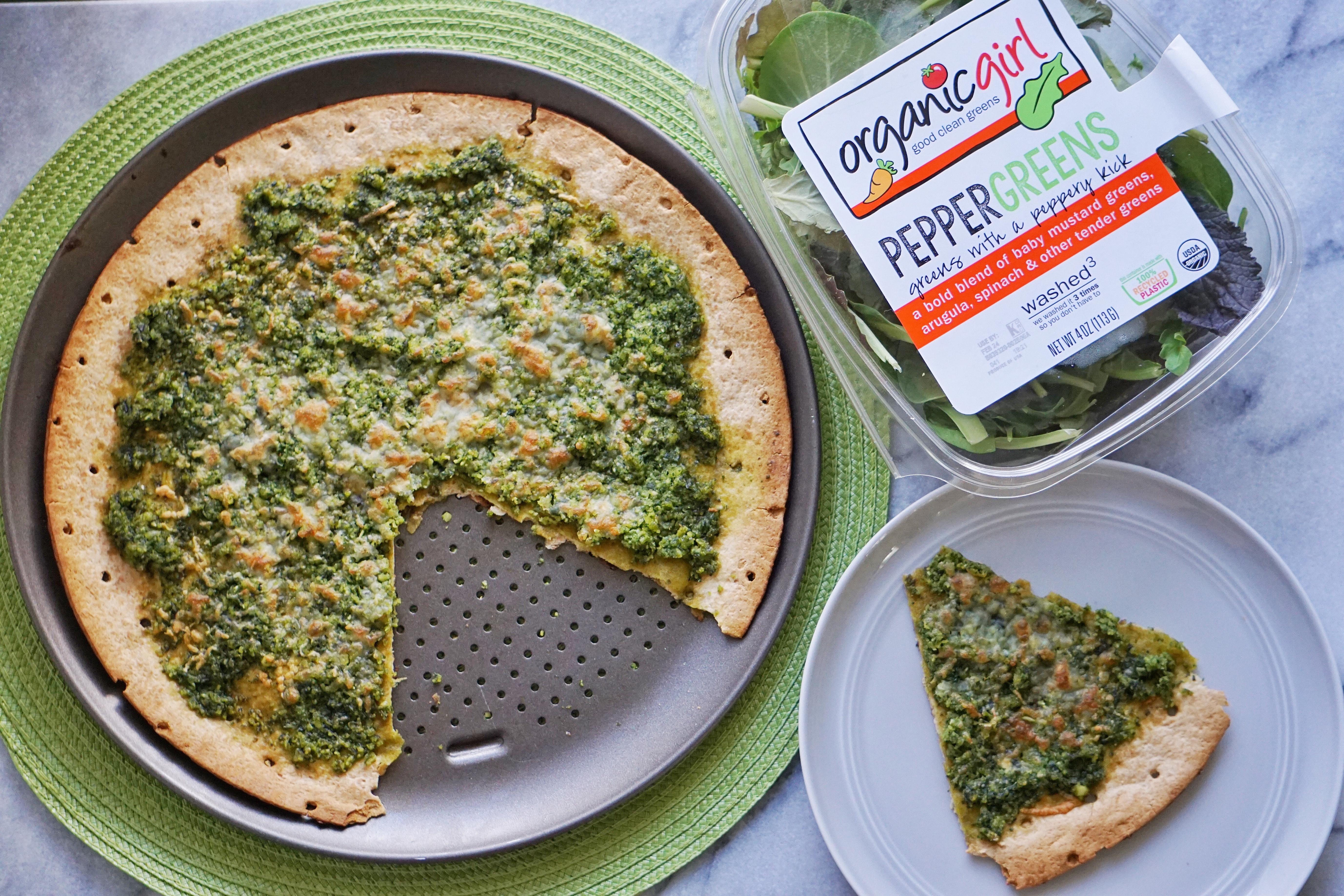 Pesto Pizza Leahs Plate2 - Green Pesto Pizza