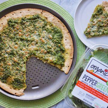 Pesto Pizza Leahs Plate3 360x361 - Green Pesto Pizza