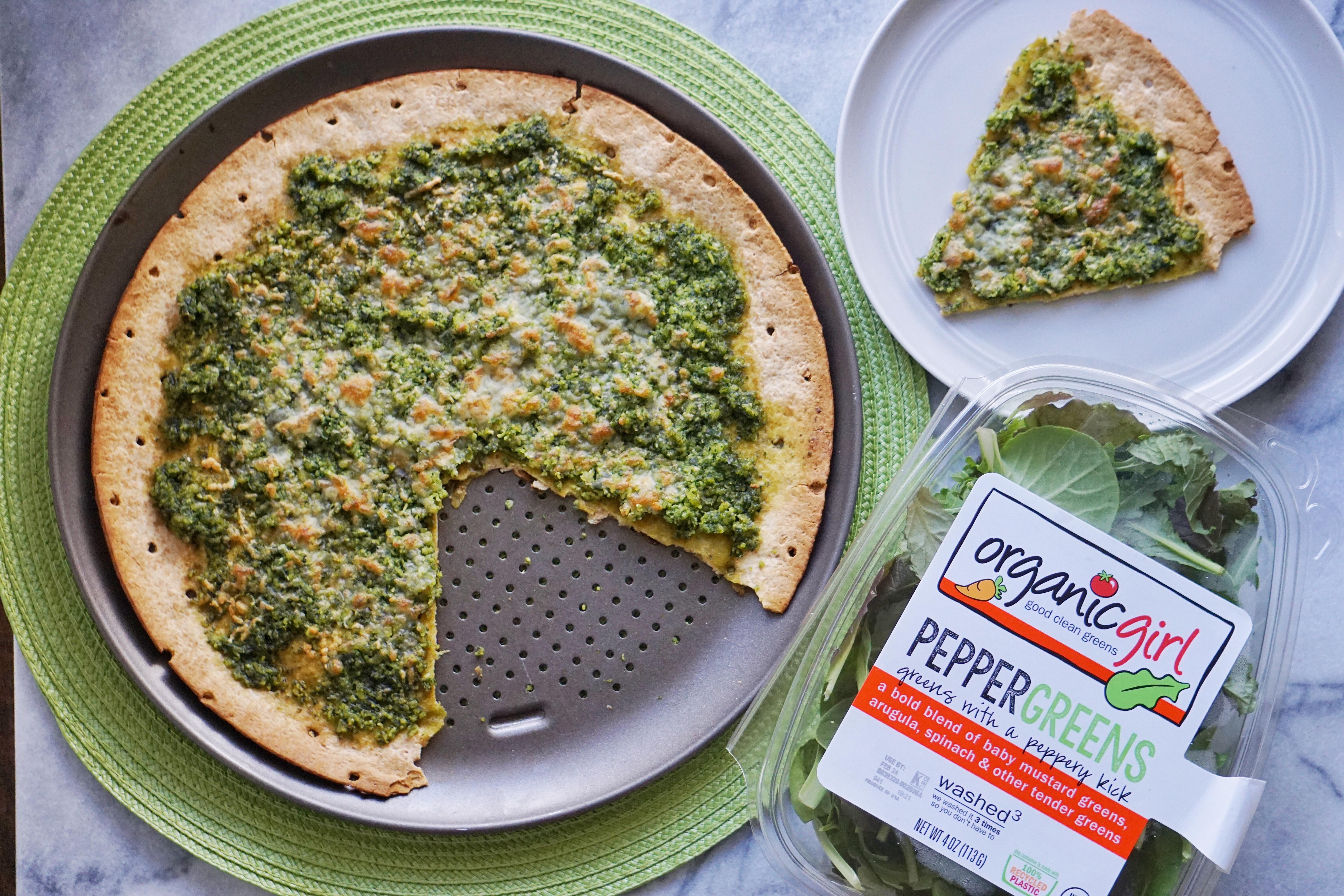 Pesto Pizza Leahs Plate3 - Green Pesto Pizza