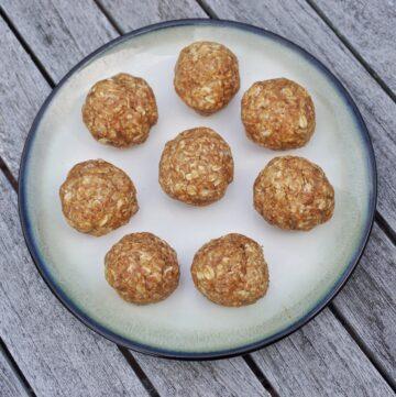 No Bake Almond Butter Oat Energy Balls Leahs Plate4 360x361 - No Bake Almond Butter Oat Energy Balls