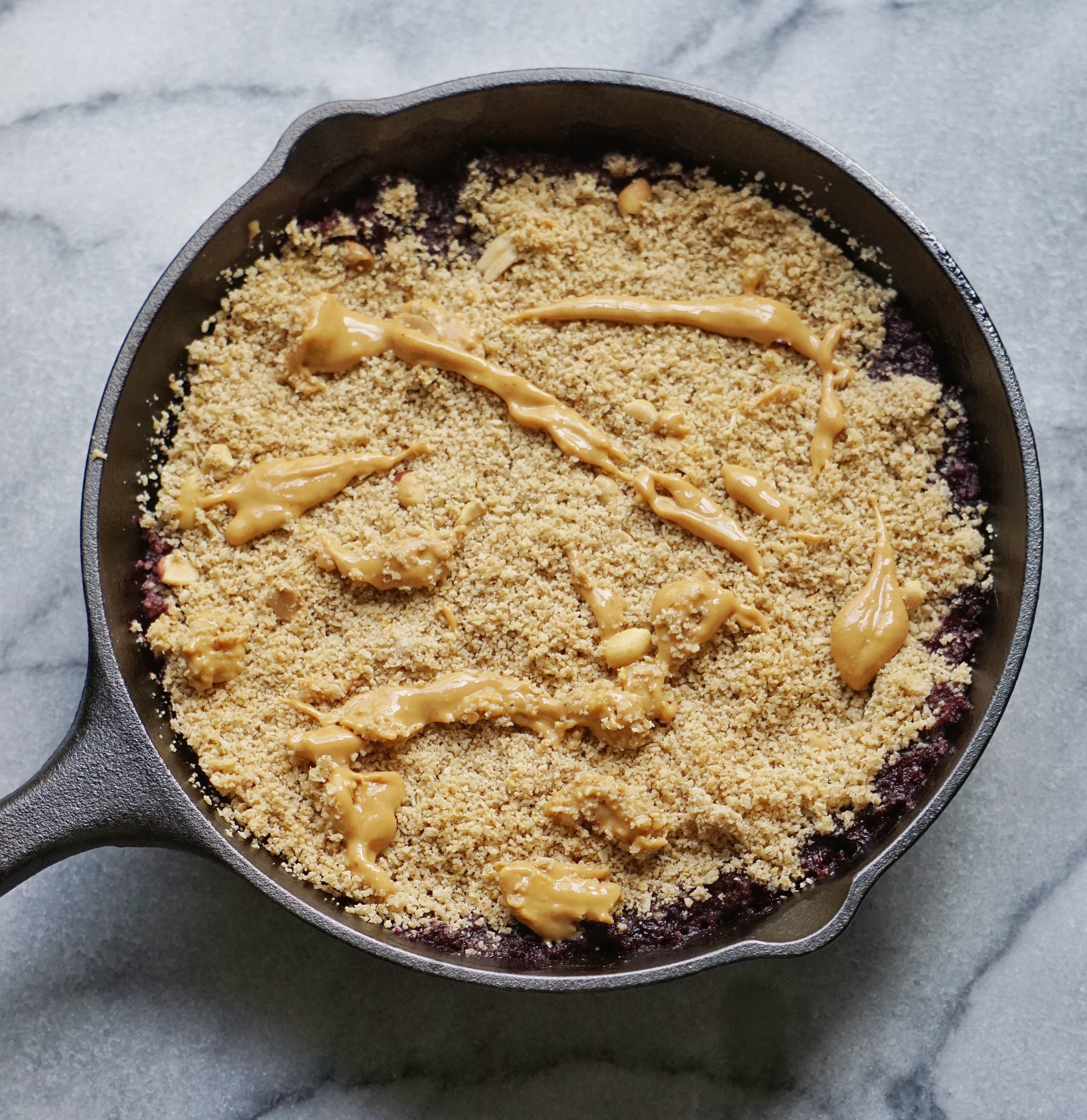 PBJ Crumble Leahs Plate. - Peanut Butter & Jelly Crumble