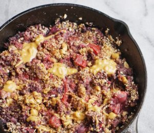 Peanut Butter & Jelly Crumble