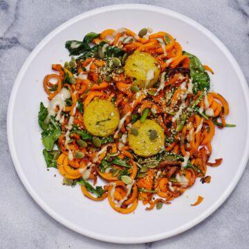Sweet Potato Noodles Leahs Plate 360x361 - Sweet Potato Noodle Stir Fry