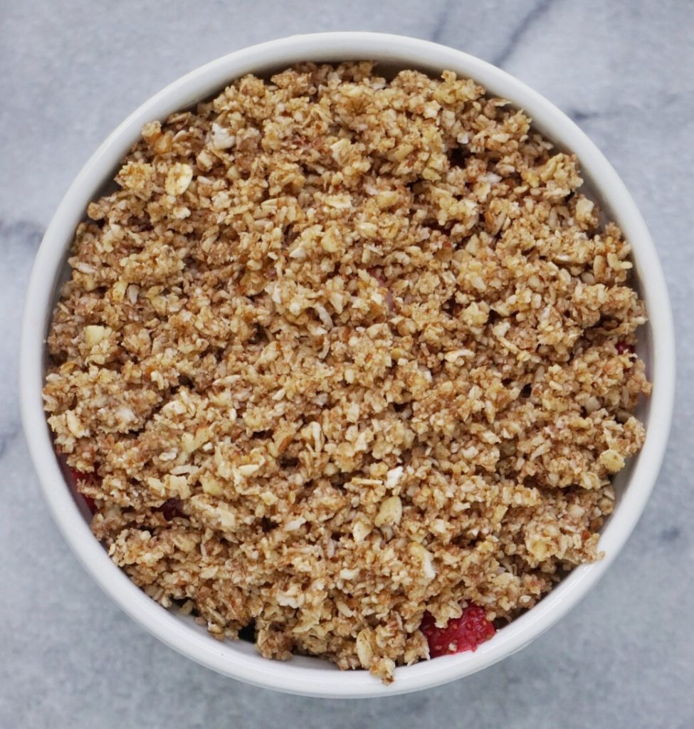 Strawberry Pecan Crumble by Leahs Plate7 975x1024 - Strawberry Pecan Crumble (Vegan & Gluten Free)