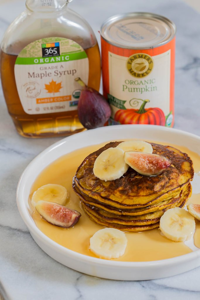 Flourless Paleo Pumpkin Pancakes by Leahs Plate 683x1024 - All the delicious healthy PUMPKIN recipes to make this fall!