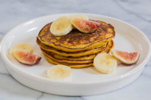 Flourless Paleo Pumpkin Pancakes