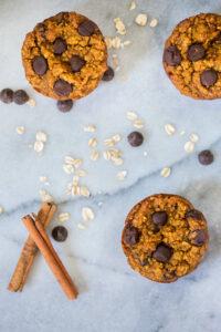 Flourless Chocolate Chip Pumpkin Muffins