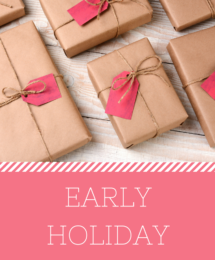 Early Holiday Sales