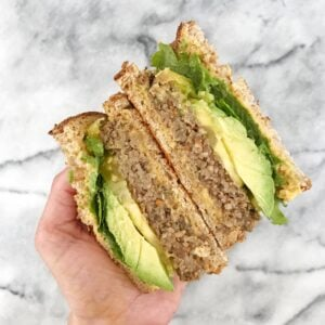 California Veggie Burger with Sweet & Savory Pumpkin Hummus
