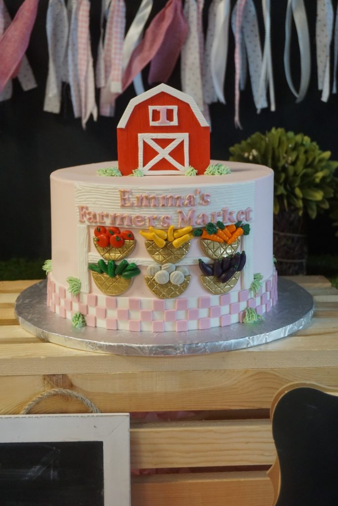 Farmers Market Cake 684x1024 - Emma Turns ONE
