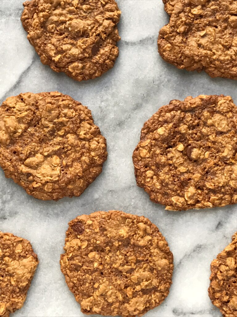 Flourless Chocolate Chip Oatmeal Cookies (Gluten Free ...