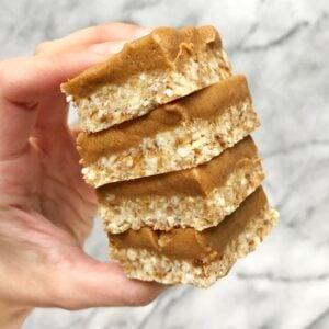 No Bake Sugar Cookie Peanut Butter Bars (Vegan & Gluten-Free)