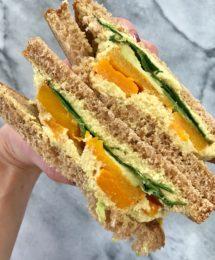Roasted Butternut Squash Sandwich with a Turmeric Cashew Spread