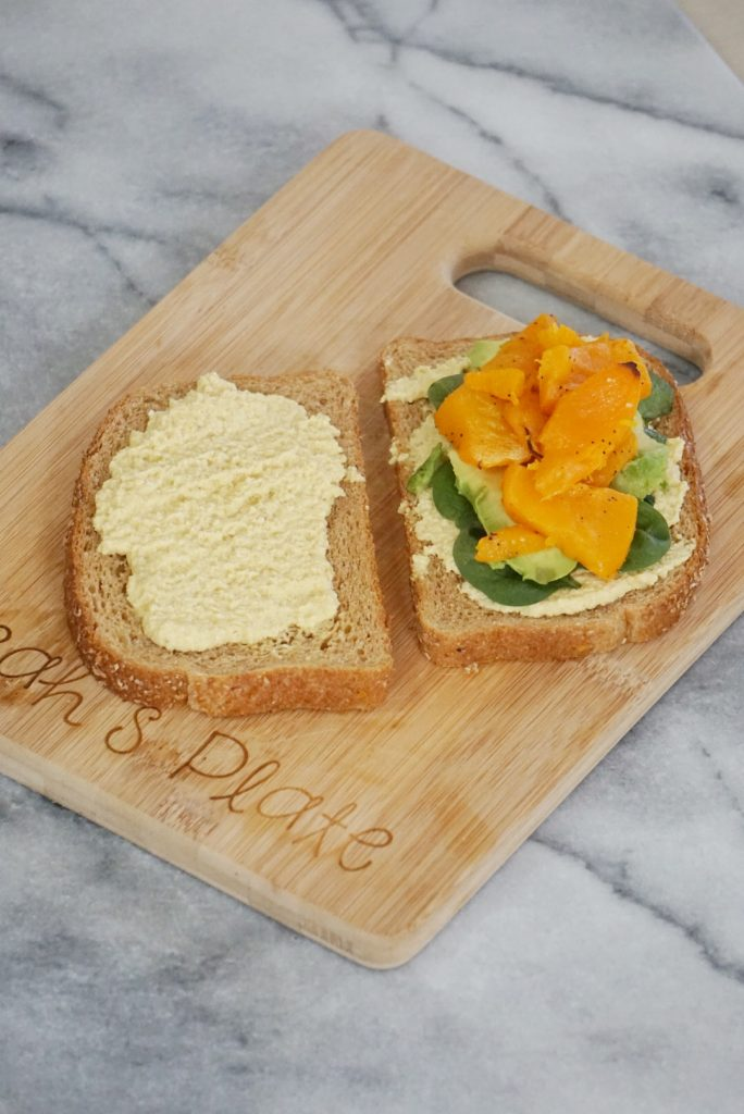 Roasted Butternut Squash Sandwich with Turmeric Cashew Spread3 684x1024 - Roasted Butternut Squash Sandwich with Turmeric Cashew Spread