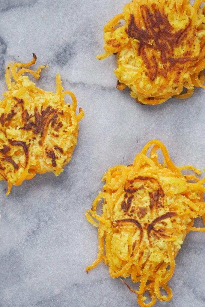 Gluten Free Spiralized Butternut Squash Fritters5 684x1024 - Spiralized Butternut Squash Fritters (Gluten-Free & Dairy-Free)