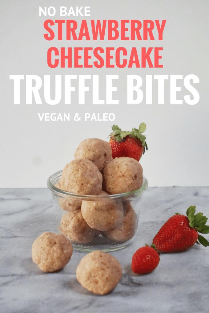 Strawberry Cheesecake Truffle Bites by Leahs Plate 683x1024 - No Bake Strawberry Cheesecake Truffles Bites (Vegan & Gluten Free)