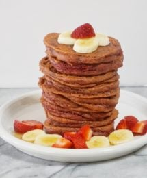 Valentine's Day Morning Grain-Free Red Velvet Pancakes (Paleo)