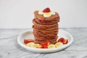 Valentine's Day Morning Grain-Free Red Velvet Pancakes