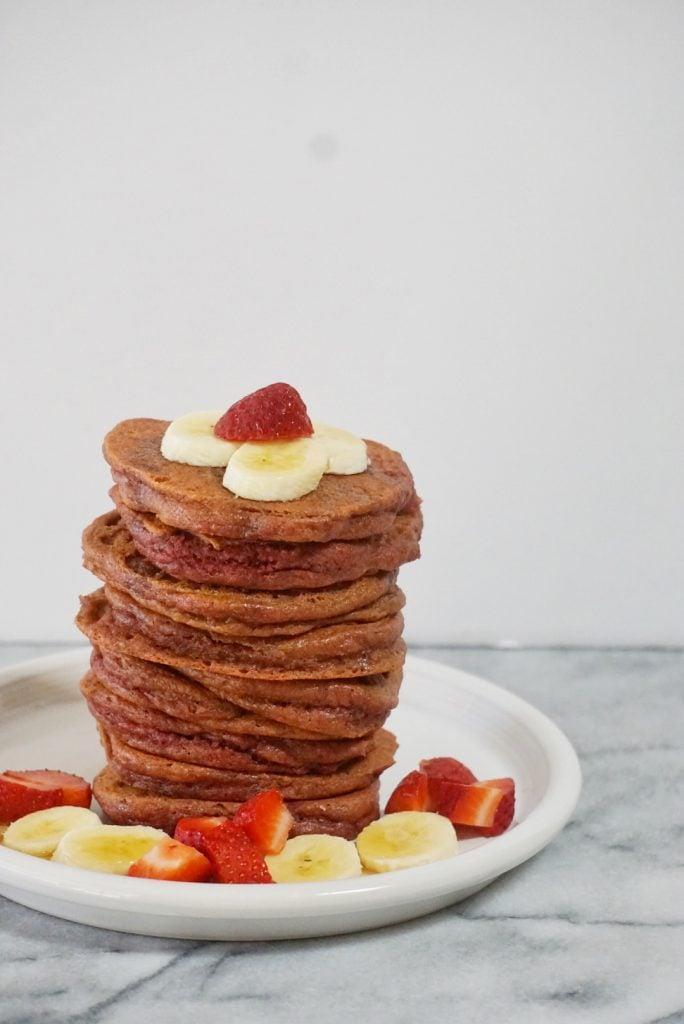 Valentineu0027s Day Morning Grain Free Red Velvet Pancakes (Paleo) ...