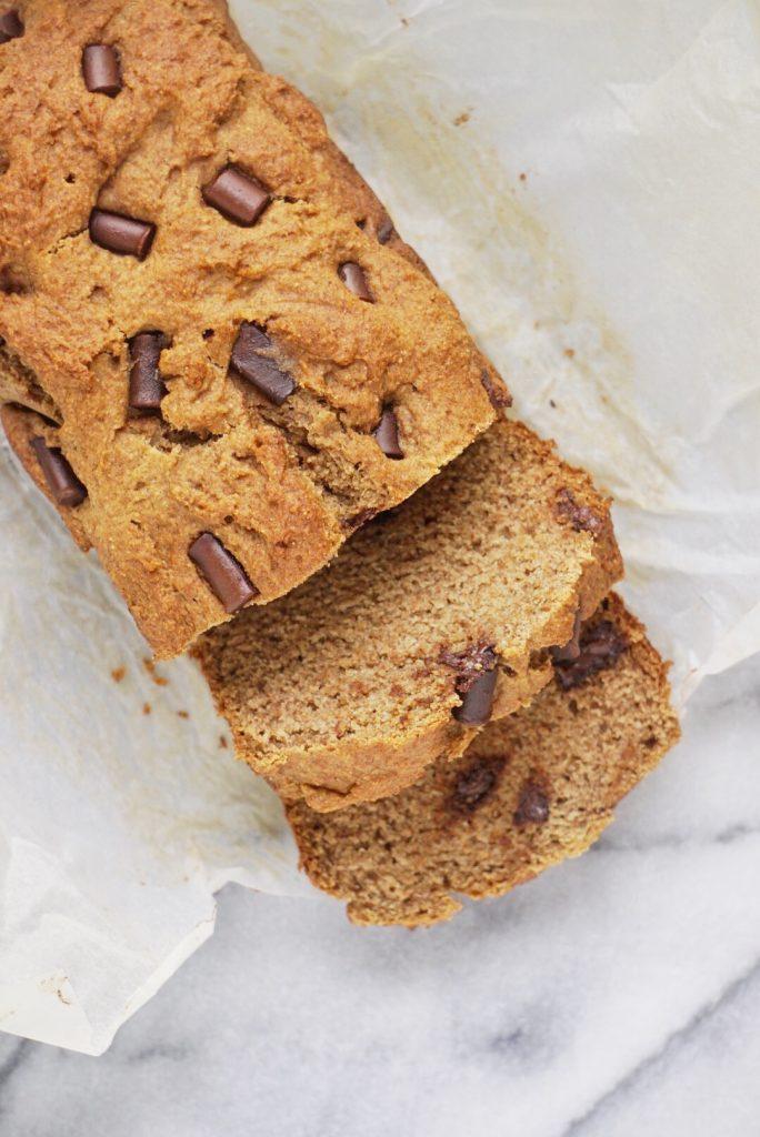 Vegan Spelt Banana Bread5 684x1024 - The Best Vegan Whole Wheat Chocolate Chip Banana Bread