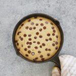 Chocolate Chip Pancake Skillet Bake (Vegan & GF)