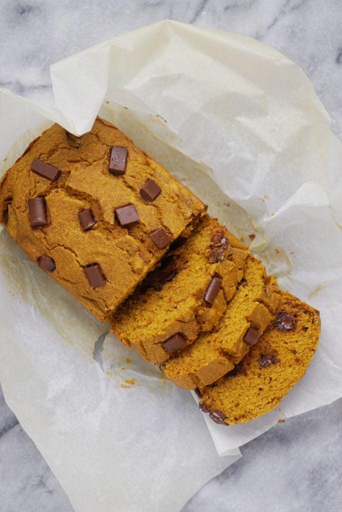Healthy Chocolate Chip Pumpkin Bread2 684x1024 - Healthy Chocolate Chip Pumpkin Bread