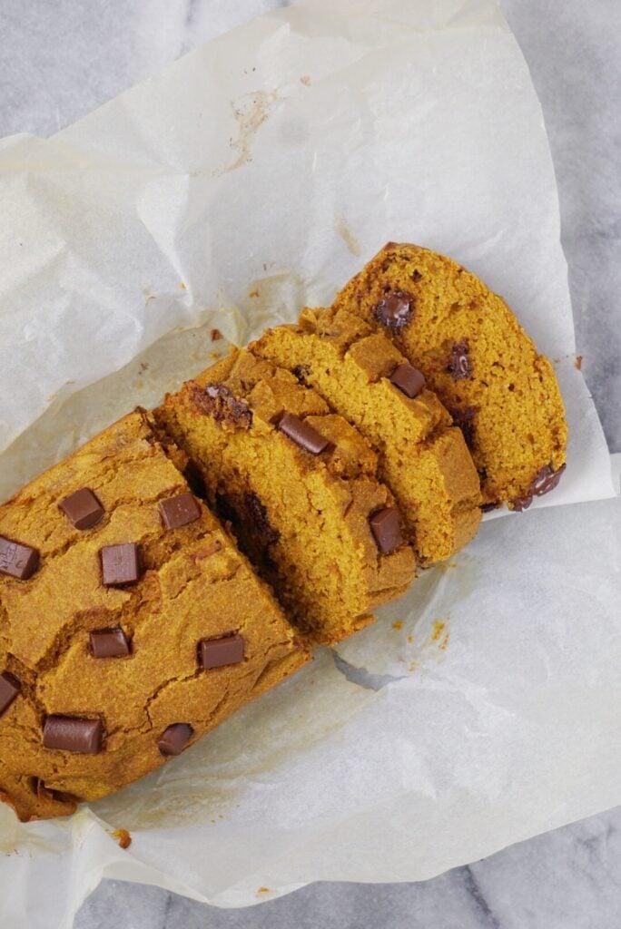 Healthy Chocolate Chip Pumpkin Bread4 684x1024 - Healthy Chocolate Chip Pumpkin Bread