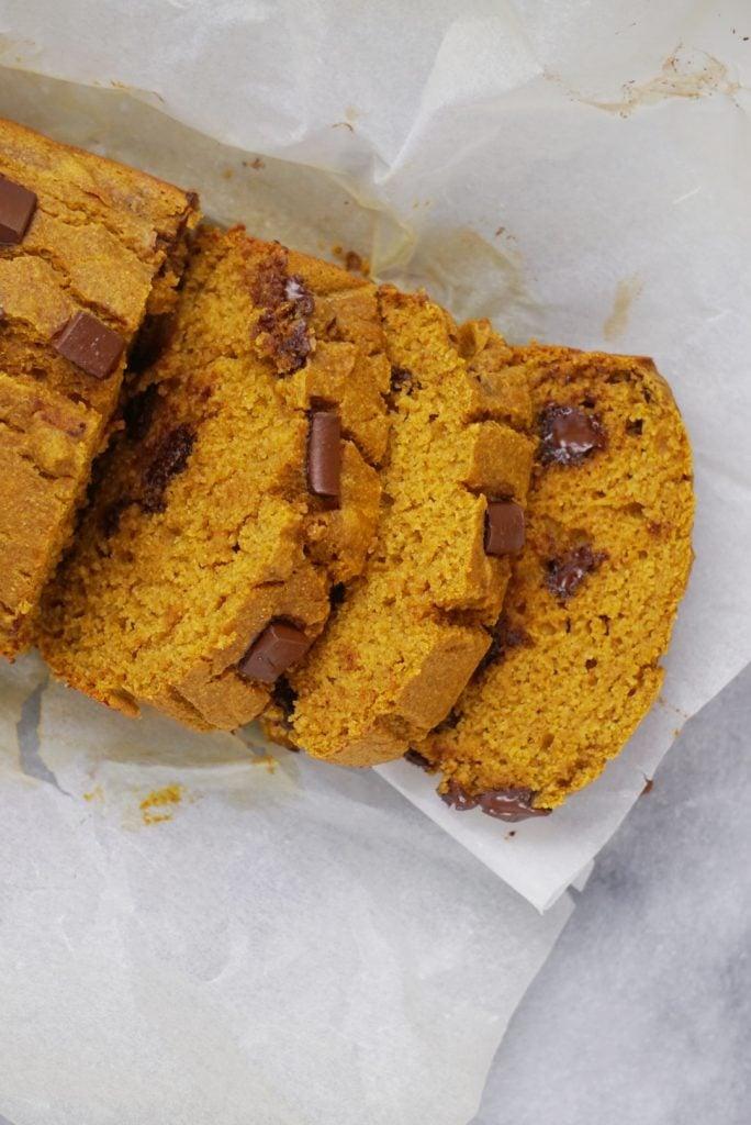 Healthy Chocolate Chip Pumpkin Bread5 684x1024 - Healthy Chocolate Chip Pumpkin Bread