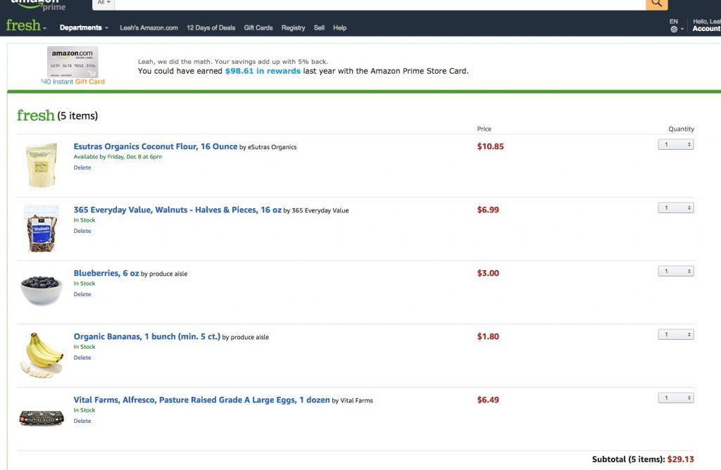 Amazon Fresh 1024x668 - 3 Ingredient Paleo Banana Pancakes