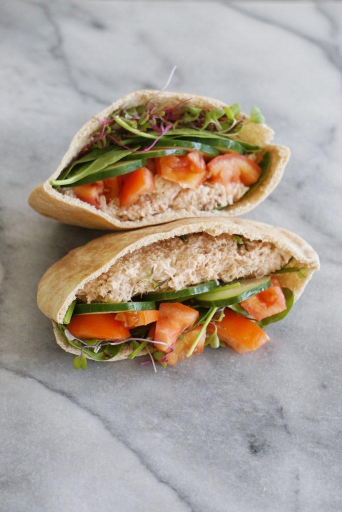 tuna pita 2 684x1024 - Healthy Tuna Salad Pita
