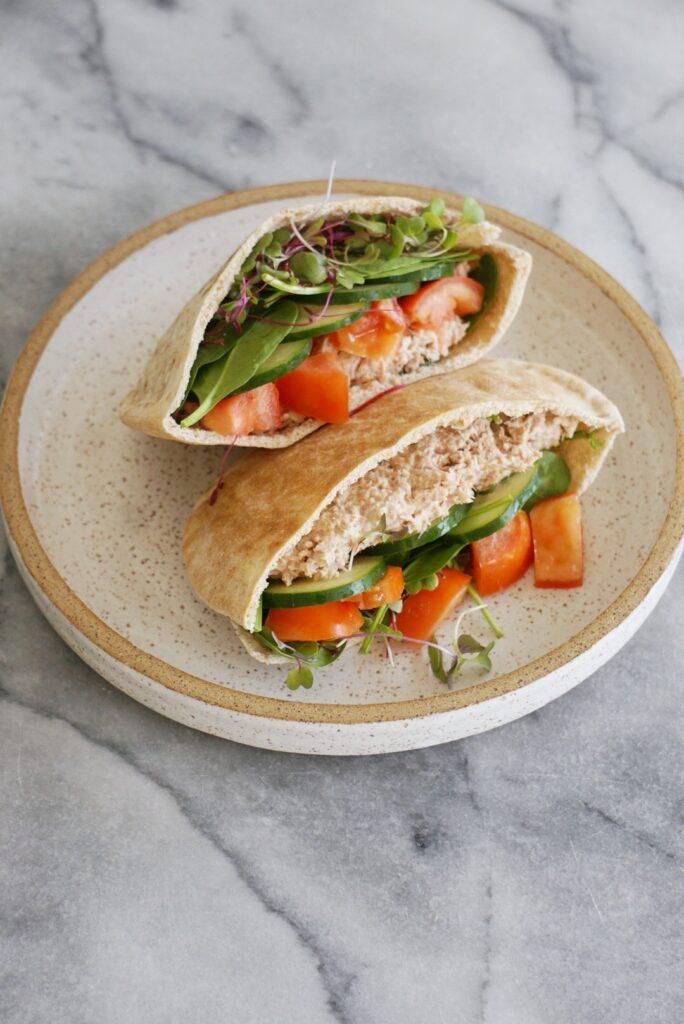 tuna pita 3 684x1024 - Healthy Tuna Salad Pita