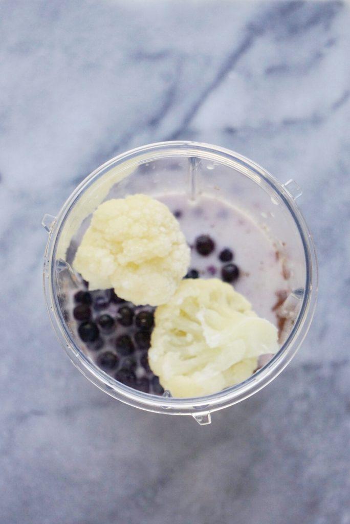 Blueberry Flax Smoothie 684x1024 - Blueberry-Flax Smoothie (Vegan & GF)