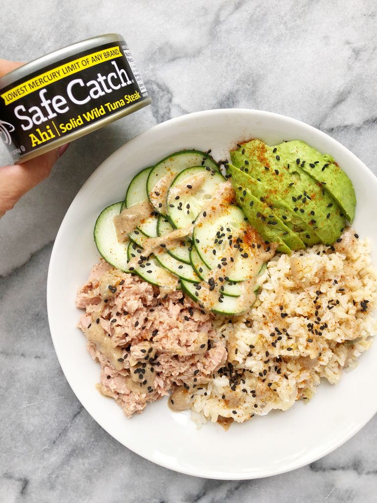 Ahi Tuna Bowl with an Asian Almond Butter Dressing 768x1024 - Ahi Tuna Bowl with an Asian Almond Butter Dressing