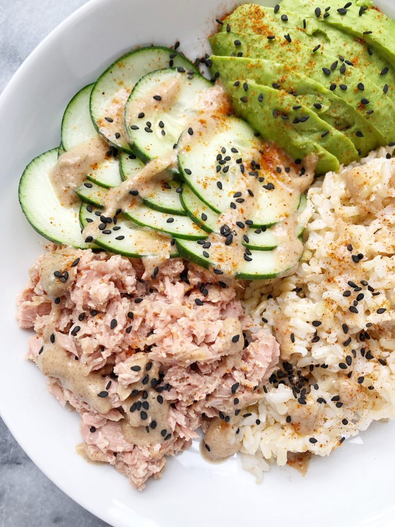 Ahi Tuna Bowl with an Asian Almond Butter Dressing4 768x1024 - Ahi Tuna Bowl with an Asian Almond Butter Dressing