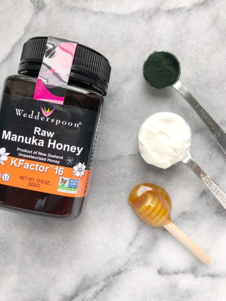 Yogurt Honey Spirulina Face Mask 768x1024 - Skin-Brightening Probiotic Yogurt, Honey & Spirulina Face Mask