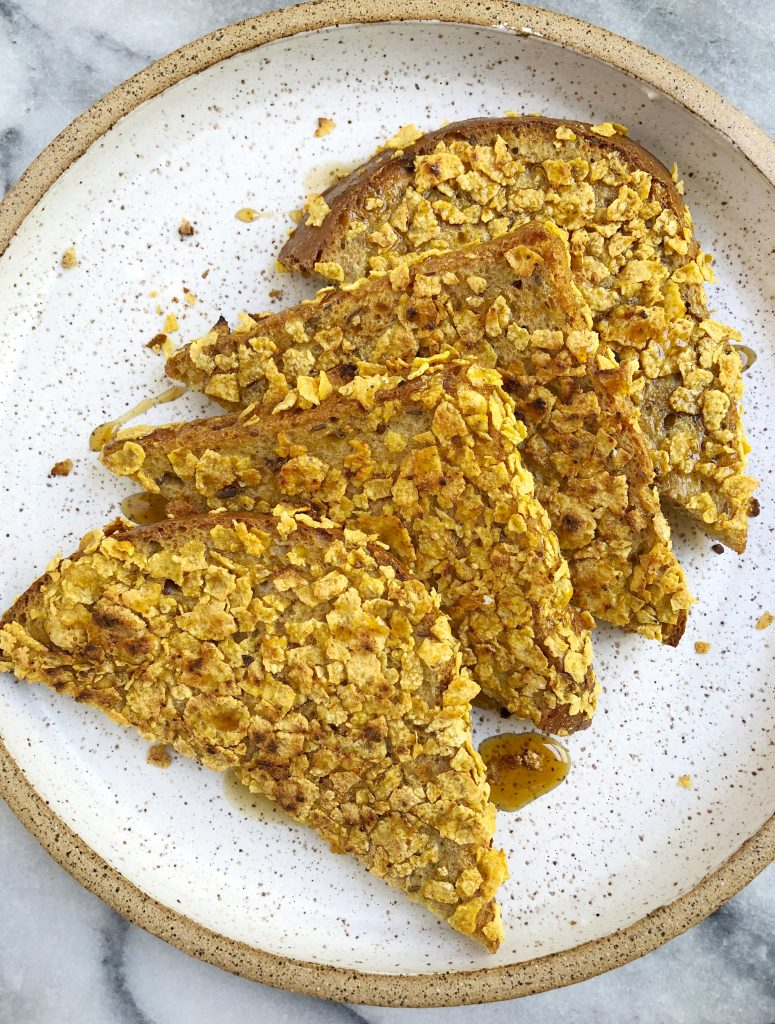 Healthy Cornflake Crusted French Toast 2 775x1024 - Healthy Cornflake-Crusted French Toast