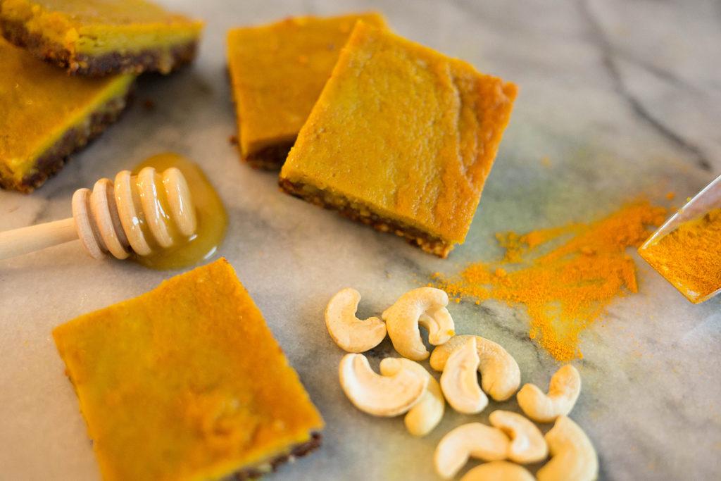 Turmeric Honey Bars3 1024x683 - Turmeric Honey Bars (free of dairy, grains, gluten and refined sugar)!
