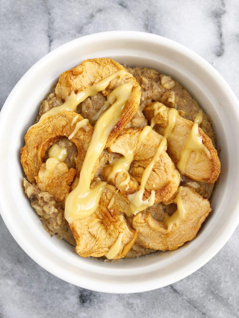 Peeled 3 768x1024 - Apple Pie Baked Oatmeal (Vegan & Gluten-Free)