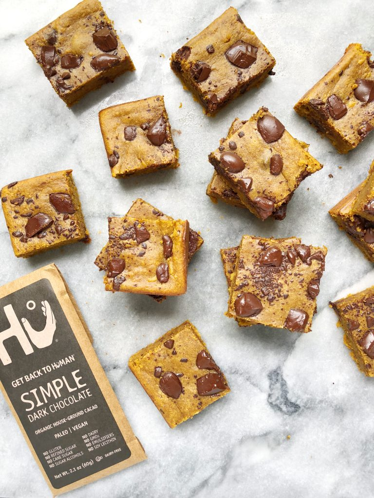 hu 768x1024 - Healthy One-Bowl Chocolate Chunk Pumpkin Bars (Gluten-Free & Dairy-Free)