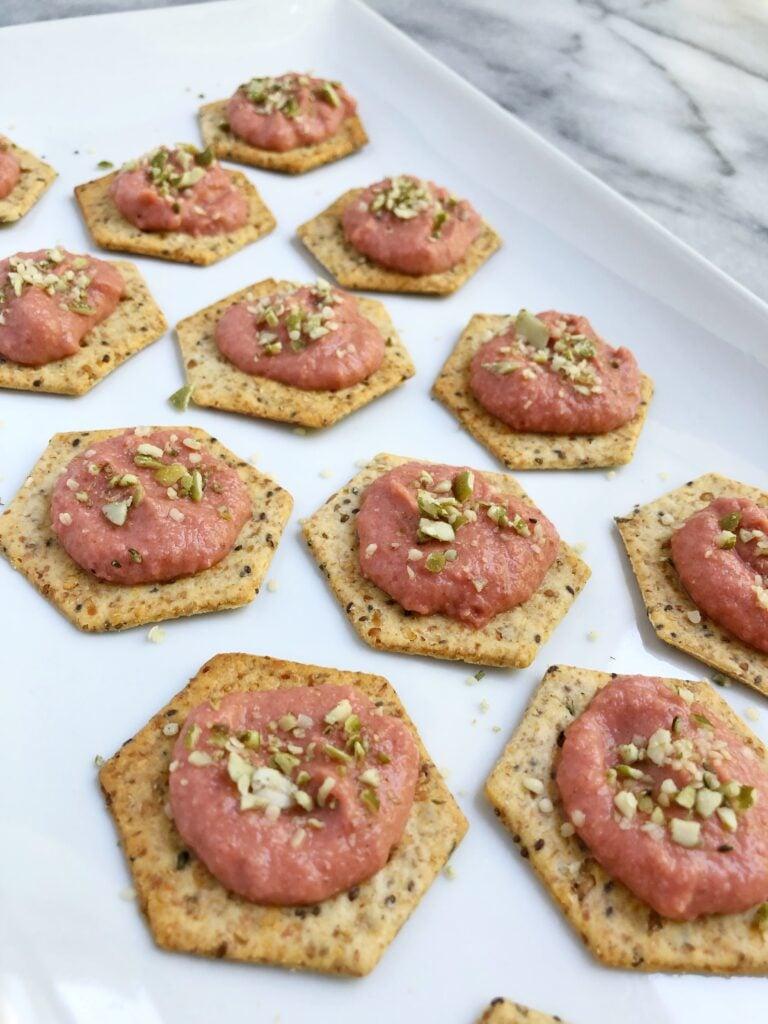 Beet Hummus Appetizer (Vegan & GF)