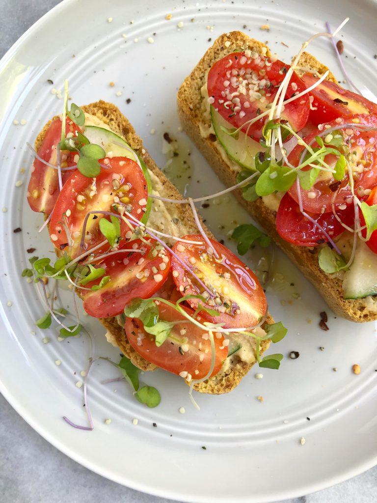 toast4 768x1024 - Hummus Cucumber Tomato Toast